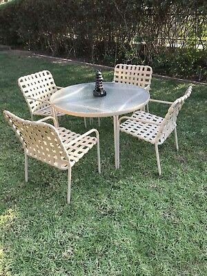 Vintage Brown Jordan Patio Furniture Table 4 Chairs 699 00