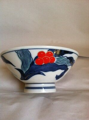 Old Vintage Oriental Asian Porcelain Bowl Cup Hand Painted Signed