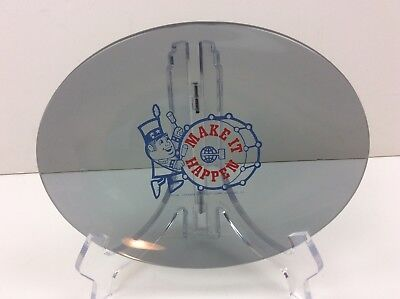 Toastmasters Make It Happen Vintage Glass Dish/Tray - Advertising