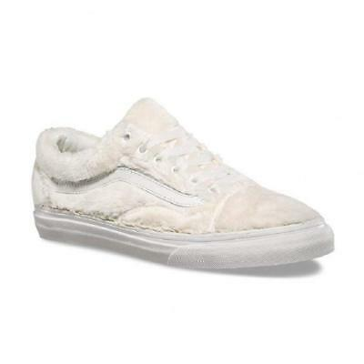 VANS Old Skool (Sherpa) Turtledove Blanc de Blanc Fur Women s Shoes Size 9 551f223d8