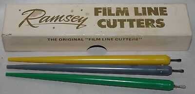 Vintage RAMSEY FILM LINE CUTTERS - 3 in Original Box - Screen Process RARE