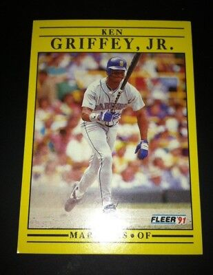 1991 Ken Griffey Jr. Outfield Seattle Mariners #450 Fleer Baseball Card