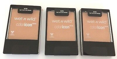 Lot of 3 Wet n Wild Color Icon Blush Apricot in the Middle #327B, NEW & SEALED