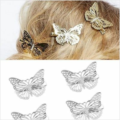 Gold Silver Black Butterfly Hair Clips Hairpins Wedding Barrette Accessories HOT