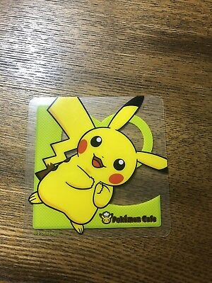 USA SELLER Pokemon Center Cafe Pikachu Coaster EXCLUSIVE TO TOKYO Dine In Only