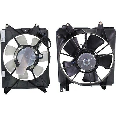 New Set of 2 Cooling Fan Assemblies Driver & Passenger Side LH RH for Civic Pair