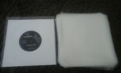 "50 New Plastic Outer Record Cover Sleeves For 7"" 45 Ep Vinyl"