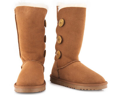 OZWEAR Connection Classic 3 Button Long Boot - Chestnut
