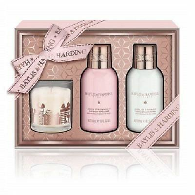 Baylis & Harding Jojoba  Silk & Almond Oil 3 Piece Candle Set 1 2 3 6 12 Packs