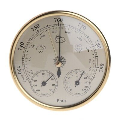 3in1 130mm Wall Mounted Barometer Hygrometer Weather Thermometer Station Hanging
