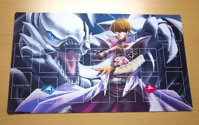 F266+ Free Mat Bag Yugioh Playmat Blue-eyes White Dragon Kaiba Seto With Zones