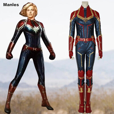 Ms Marvel Costume Captain Marvel Carol Danvers Cosplay Halloween Leather Outfits 97 42 Picclick Uk Air force pilot whose dna was accidentally fused with a kree, which imbued her with superhuman strength, energy projection, and flight. ms marvel costume captain marvel carol