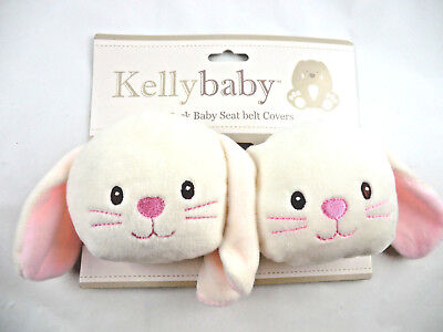 KellyBaby Bunny Strap Covers Baby Child Safety Car Seat Stroller Comfort Travel