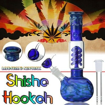 Gorgeous Color Bong Collectible Tobacco Glass Bubbler Glass Smoking Water Pipe