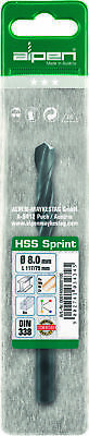 "Alpen 1/8"" HSS Sprint Jobber Drills for Metal Wallet of 3"