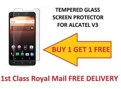 100% Genuine Premium Tempered Glass Screen Protector For Alcatel 3V buy1get1free