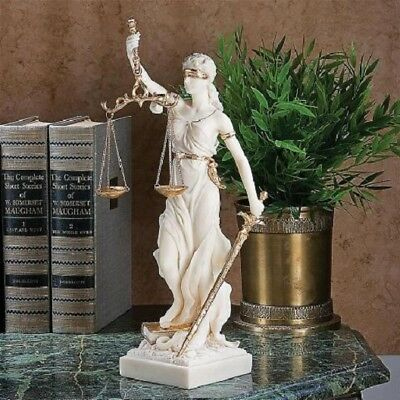 Historic Greek Goddess of Justice Statue Themes Law Sculpture Figurine