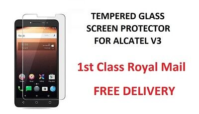 100% Genuine Tempered Glass Screen Protector For Alcatel 3V FREE DELIVERY