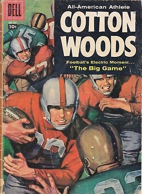 DELL FOUR COLOR #837 (1957) All American Athlete COTTON WOODS VG 4.0