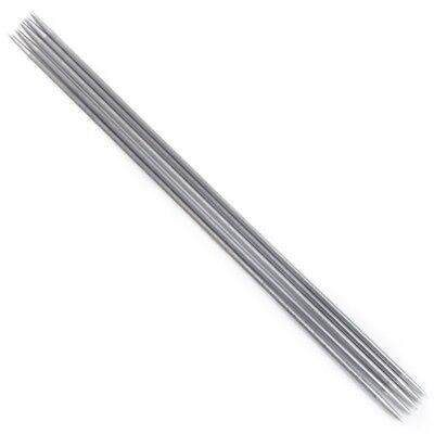 2X(11 Sets of Double-Pointed Stainless Steel Knitting Needles 2.0-6.5mm --- 5 2*
