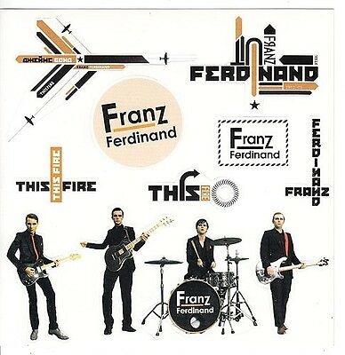 Franz Ferdinand Self Titled / This Fire RARE promo sticker sheet (12 in 1) '97