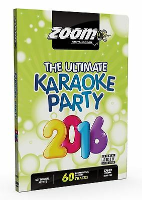 Zoom Karaoke The Ultimate Party 2016 DVD Region Free New Sealed