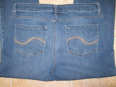 Lee Perfect Fit Stretch Straight Leg Jeans Womens size 16 Short 36 X 29