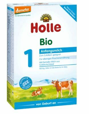 4 x HOLLE ORGANIC COW MILK - STAGE 1 - BABY FORMULA 4 x 400 g > FROM GERMANY <