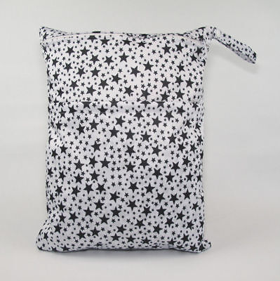 Large Cloth Mama Wet Bag for Nappies, Wipes, Cloth Sanitary Pads, CSP - Stars