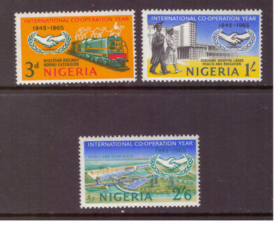 Nigeria MNH 1965 International Cooperation Year  set  mint stamps