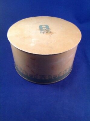 Vintage 1940's Avon Dusting Powder Talcum Tin Can Container w/ Lid, Read
