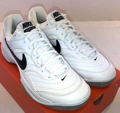 the latest aa52c 315ce NIKE Court Lite Men s Tennis Shoe White Leather 845021-100 NWD