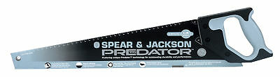 "Spear and Jackson Predator Hand Saw 22"" UPVC Plastic Cutting Handsaw"