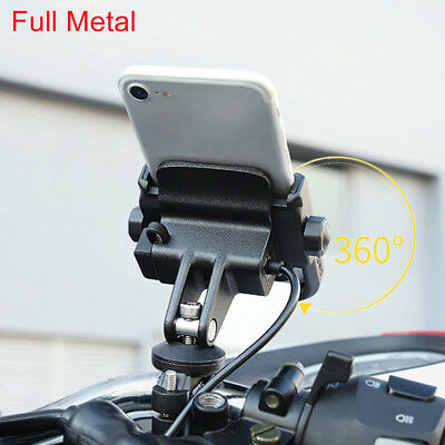 For 4~6.6'' Cell Phone Mount Holder Motorcycle Handlebar Rear View Mirror Base