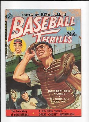 Baseball Thrills #2 ==> Gd True Story Of Yogi Berra + Bob Feller 1951 Ziff Davis