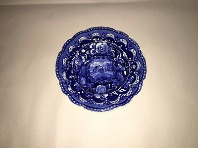 "Historical Staffordshire Blue Transfer Plate States Pattern By Clews 8"" Ca. 1825"