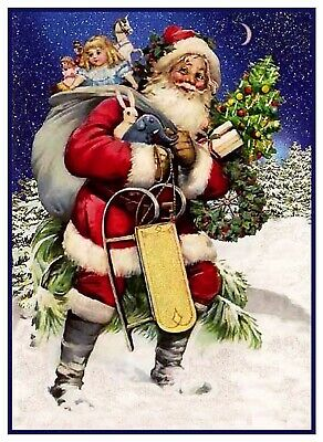 Victorian Father Christmas Santa Claus # 701 Counted Cross Stitch Pattern