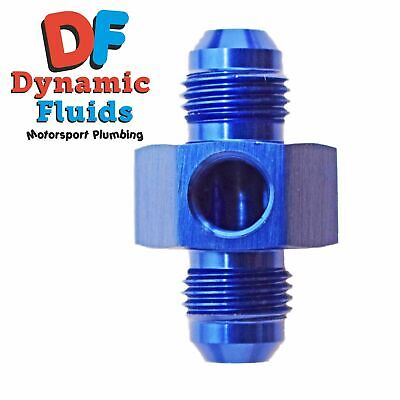 """(AN6) -6 Male To AN6 -6 Male Adaptor With 1/8"""" NPT Side Port"""