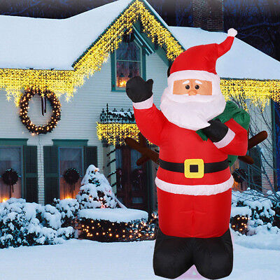 Large Inflatable Holiday Christmas Santa Claus Lights Xmas Atmosphere Yard Decor