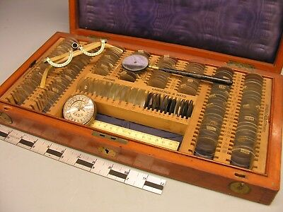~ Attractive Opticians TRIAL LENS Set, late 19th c ~