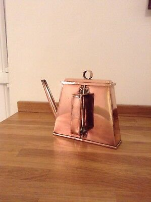 Rare Arts and Crafts Victorian Flat Backed Copper Kettle