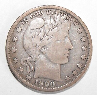 1900 Barber Half Dollar, Circulated and ungraded