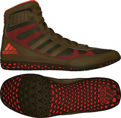 Adidas Mat Wizard David Taylor Wrestling Boxing MMA Shoes - Olive  Green Orange 8fb2f04f2