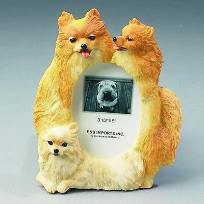"""Pomeranian Resin Picture Frame for a 3.5 x 5"""" Photo"""