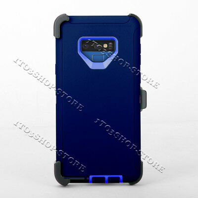 Samsung Galaxy Note 9 Case w/Holster Belt Clip Fits Otterbox Defender Navy Blue