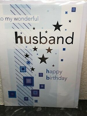 Husband Birthday Card Ex Large A4 Size
