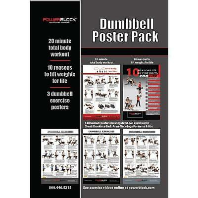 Powerblock Dumbbell Workout Poster Pack-5-Pack