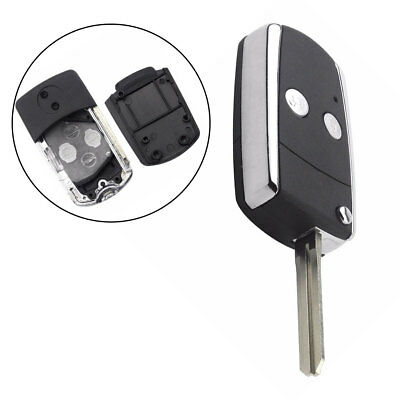 KB_ 2 Button Flip Remote Key Case For Toyota Camry Corolla Yaris Uncut Blade S
