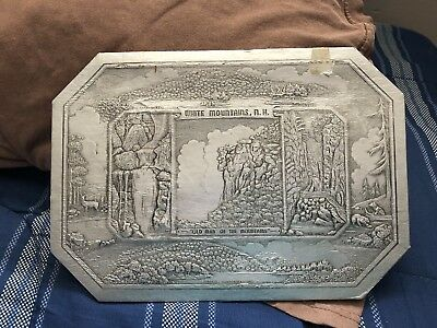 Vintage New Hampshire Plaque Trivet Old Man Of The Mountain