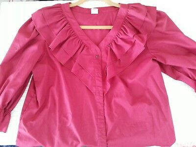 Burgundy Square Dance Blouse